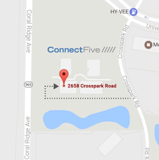 ConnectFive is located at 2658 Crosspark Road in Coralville, IA